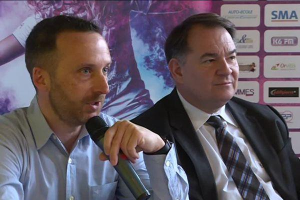 Le nouveau président du CDB Thierry Degorce (à d.) et l'un des directeurs généraux délégués,  Sébastien Brenot (à g.)