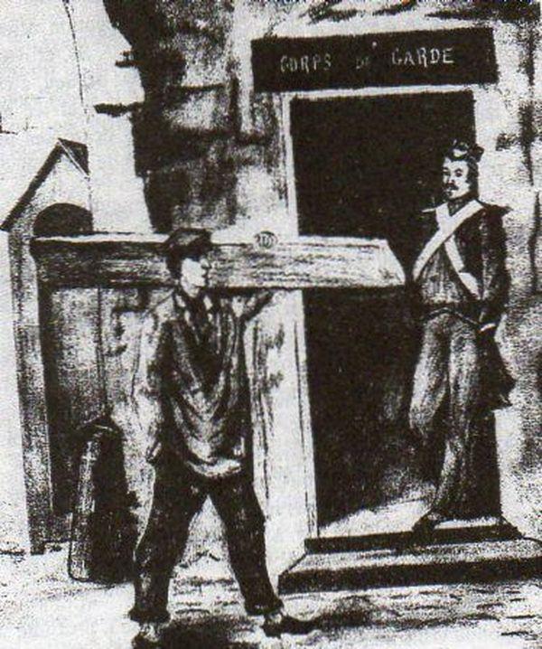 Un autre représentation de la fuite de Louis-Napoléon Bonaparte du fort de Ham.