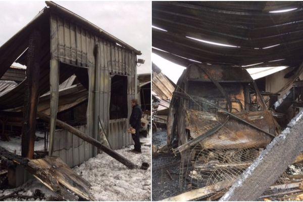 L'entreprise Salmon à Ploubalay a été entièrement détruite par les flammes