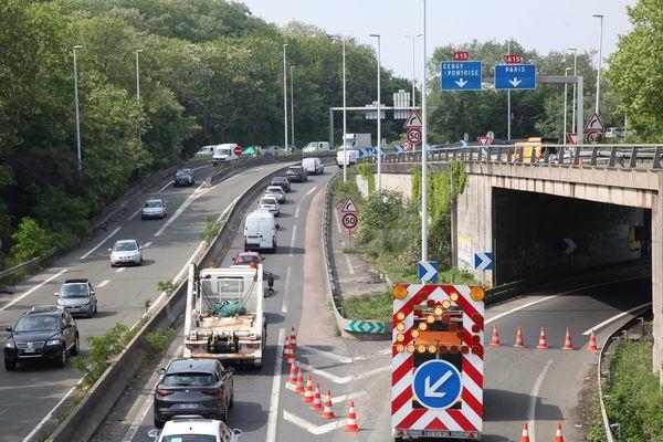 La circulation avait été complètement fermée dans le sens province-Paris. Elle a repris sur deux voies le 18 mai dernier.