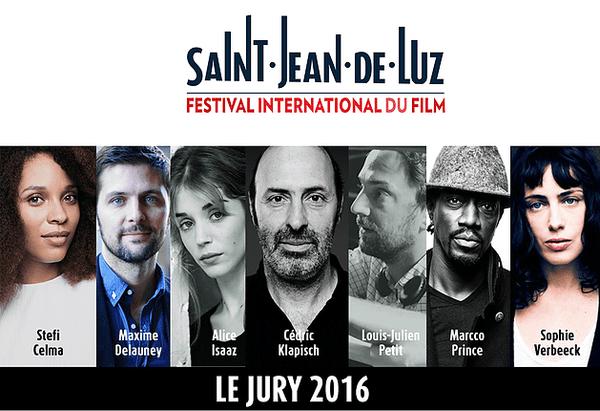 Le Jury du festival international du film de Saint-Jean-de-Luz 2016.