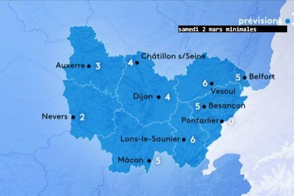 Les prévisions de Météo-France pour samedi 2 mars au petit matin