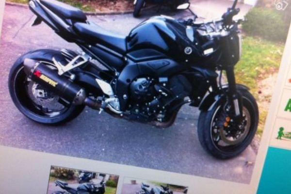 Photo d'illustration, une moto en vente sur un site internet de petites annonces