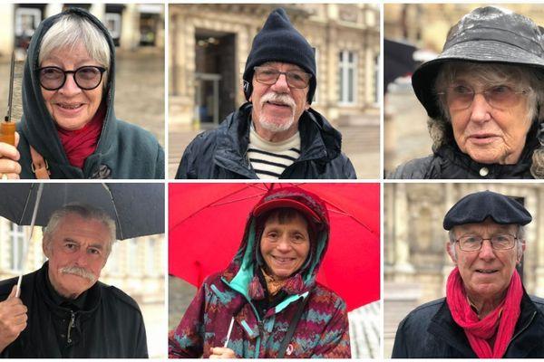 Manifestation de retraités ce mardi 8 octobre 2019 pour la défense de leur pouvoir d'achat à Reims.