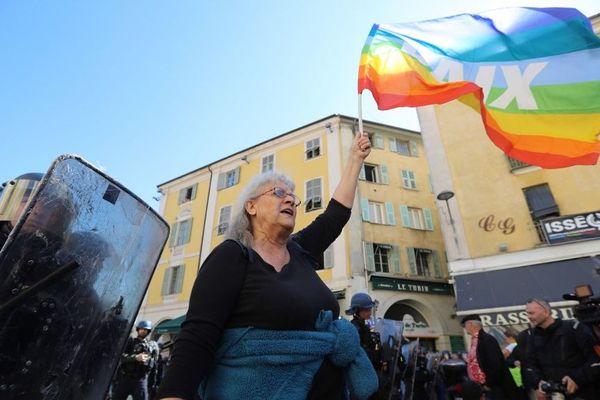 La militante d'Attac de 73 ans a été blessée le 23 mars 2019 à Nice au cours d'une charge policière pendant une manifestation des Gilets jaunes.