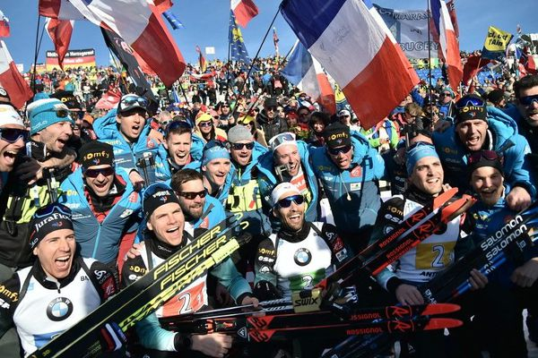 L'équipe de France de biathlon est championne du monde du relais hommes !