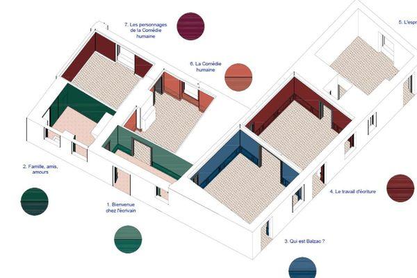 Colorimétrie de la nouvelle scénographie de la Maison de Balzac