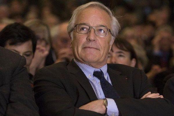 """François Rebsamen au meeting """"He oh la gauche en avril 2016 à Paris"""