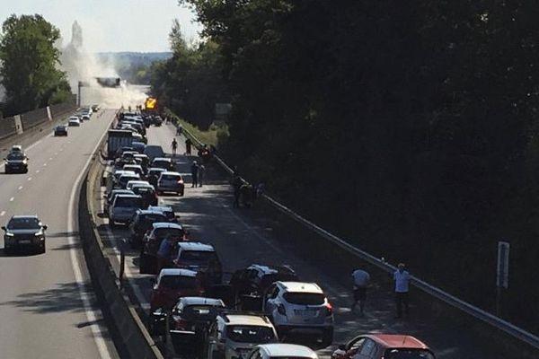 La circulation dans le sens Paris-Toulouse est très perturbée.