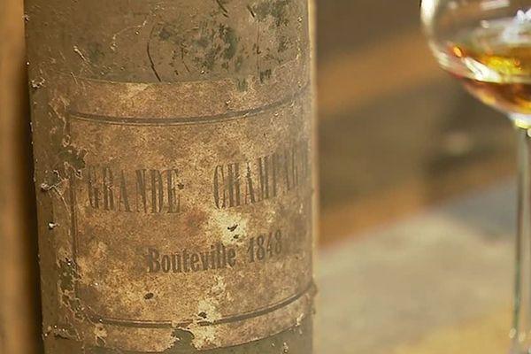 Des bouteilles de cognac datant de 1848 découverte par un restaurateur charentais dans une cave.