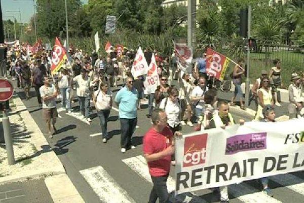 500 à 800 personnes ont manifesté à Nice.