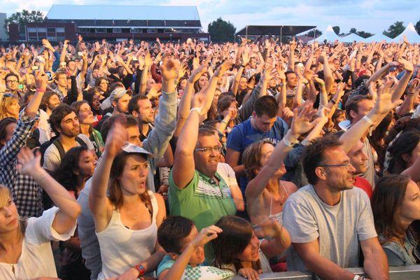 Les spectateurs du Big Festival à Biarritz en 2012