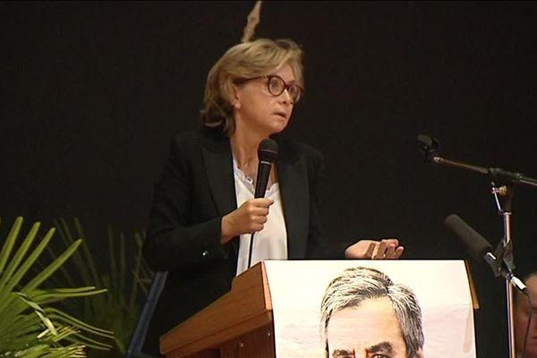 Valérie Pécresse, présidente du conseil régional d'Ile-de-France (Les Républicains) en meeting à Montbéliard