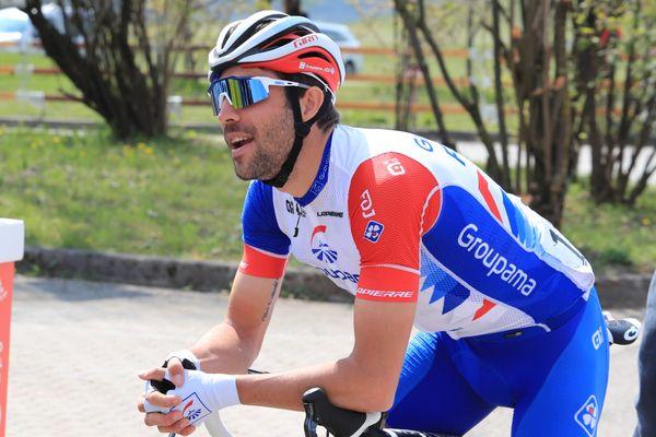 Thibaut Pinot (Groupama-FDJ) lors du Tour des Alpes 2021 en Italie le 23 Avril 2021