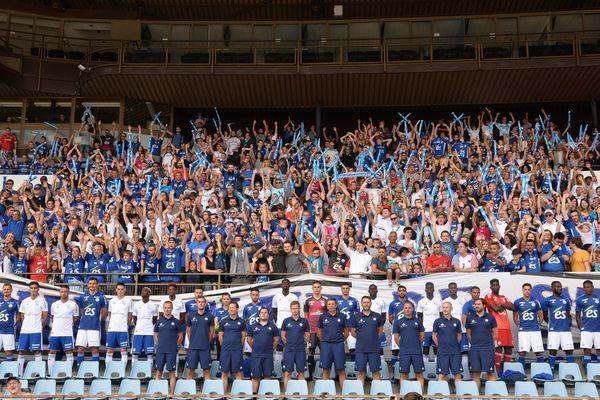 Le fan's day, le 22 juillet 2018, avec les supporters à la Meinau.