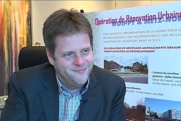 Cédric Gouth, maire de Woippy