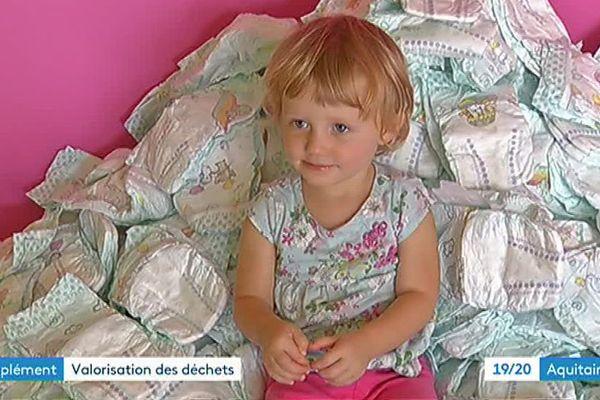 18 000 couches sont utilisées chaque année dans cette crèche de Pugnac en Gironde