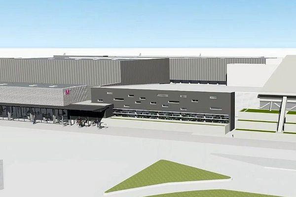 Montpellier - réalisation numérique de la future aérogare - 2018