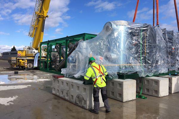 Avec ces modules livrés le 17 février, la production d'hydrogène vert va pouvoir démarrer à Strasbourg.