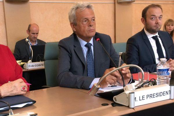 Patrick Gendraud (LR), élu président du conseil départemental de l'Yonne jeudi 13 juillet 2017.