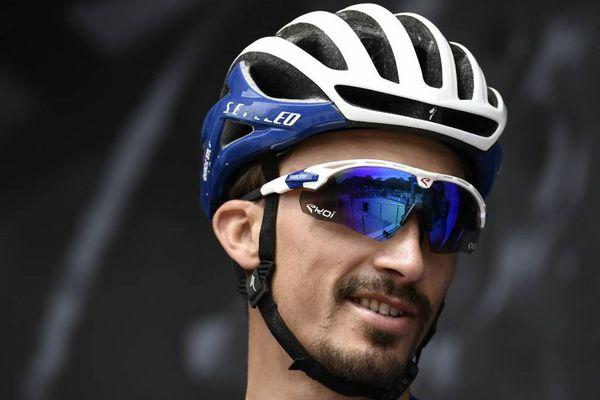 Photo d'illustration. Julian Alaphilippe, en puncheur, a devancé l'Irlandais Dan Martin, le Gallois Geraint Thomas et Romain Bardet dans cette première arrivée au sommet de cette quatrième étape du Critérium du Dauphiné, à Lans-en-Vercors en Isère.