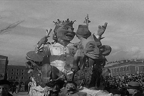 Le roi du carnaval de Nice en 1947.