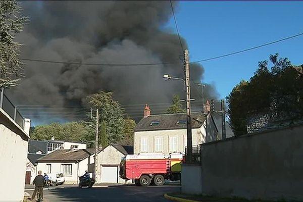 L'incendie de l'usine Traidib, à la Guerche-sur-l'Aubois, n'a heureusement fait aucune victime