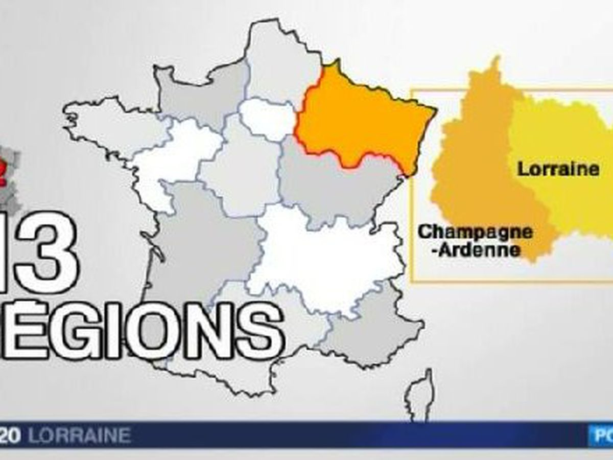 Carte Des 13 Regions Les Reactions En Lorraine