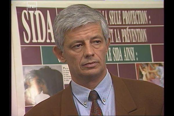Le professeur Henri Portier en 1991, lors d'une émission de FR3 Bourgogne.