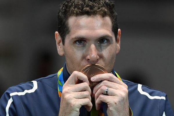 L'épéiste Gauthier Grumier a emporté la médaille de bronze à Rio mardi 9 août