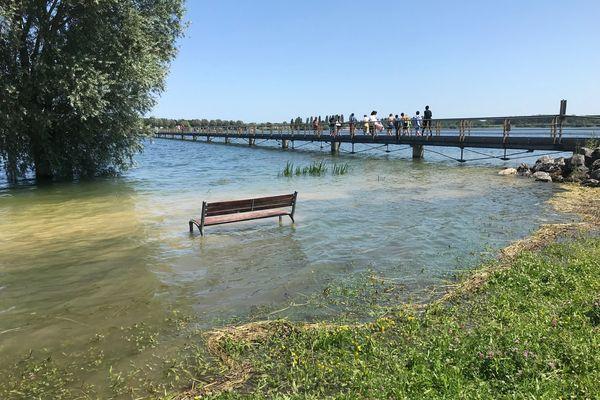 Le 16 juillet 2021, le lac du Der a dépassé sa cote d'alerte.
