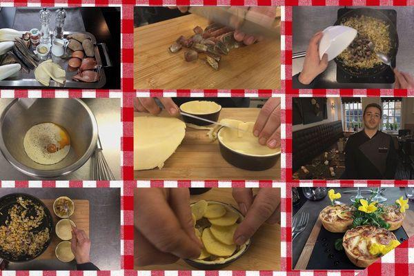 Les étapes de la tarte de hareng fumé et chicons de pleine terre