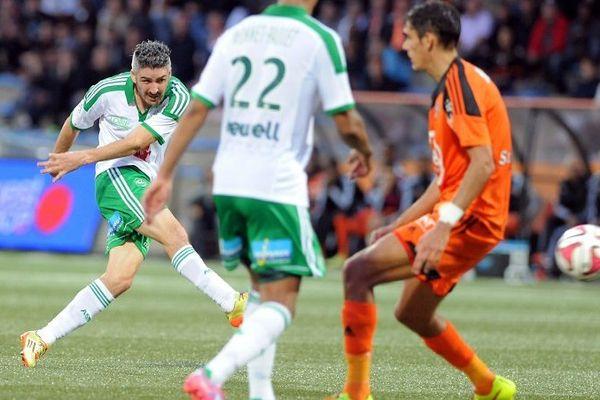 Fabien Lemoine, auteur de l'unique but de la rencontre Lorient / ASSE ( L1 - 10e journée) - (18/10/14)