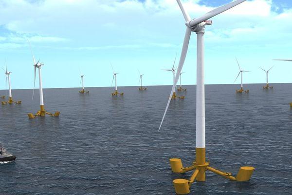 Ferme d'éoliennes flottantes Sea Reed.