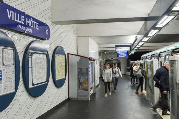 La station Hôtel-de-Ville, à Paris.