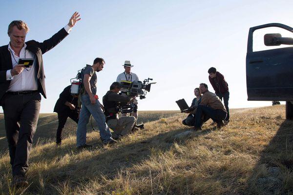 Christopher Nolan (à gauche) sur le tournage d'Interstellar, son précédent film.