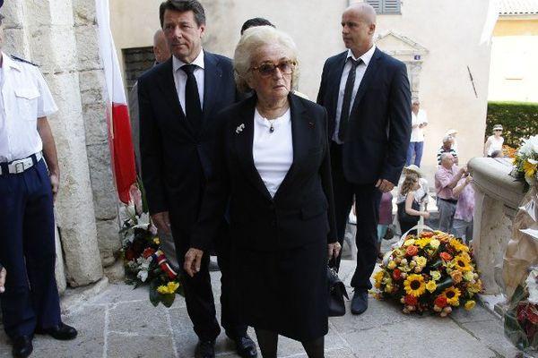Bernadette Chirac était présente aux obsèques de Charles Pasqua à Notre-Dame-du-Puy de Grasse sans son mari Jacques.