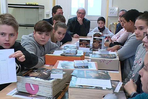 L'opération baguette suspendue a été créée par le conseil municipal des jeunes / Reims, le 21 mars 2018