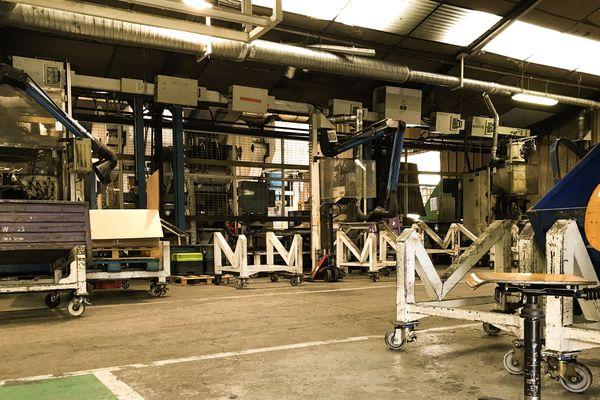 L'intérieur de l'usine en mai 2017