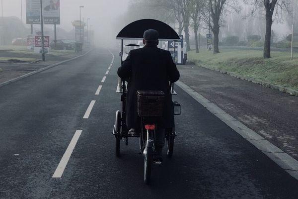 Vincent Bécasse et son triporteur Treadle Coffee espèrent pouvoir se déplacer dans de plus en plus de villes et villages normands