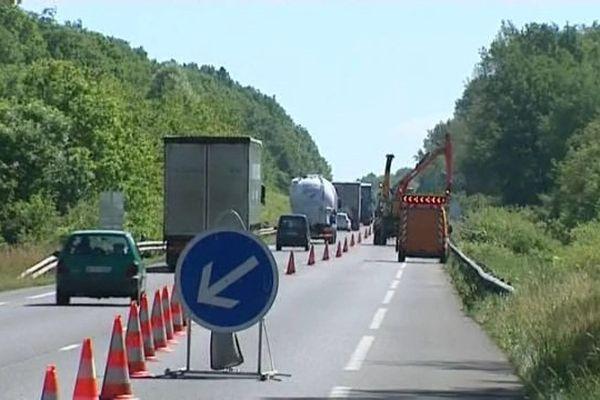 La circulation sera perturbée sur plusieurs tronçons entre le 18 mai et le 10 juillet 2015.