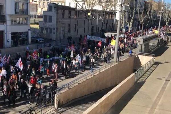 Montpellier - manifestation contre la réforme des retraites - 20 février 2020.