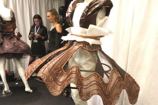 La robe en chocolat de la disciple de Pascal Jaouen et du chocolatier Georges Larnicol