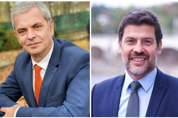 Christophe Bouchet (à gauche) et Benoist Pierre (à droite) vont faire front commun au second tour des élections municipales à Tours.