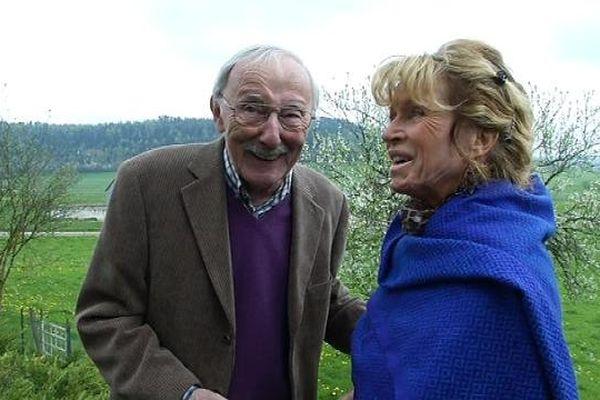 Guy Thomas avec Josette Jagot, l'une de ses interprètes