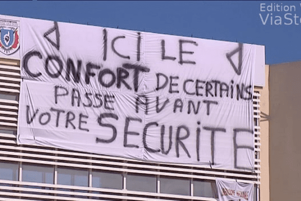 02/06/14 - Les pompiers d'Ajaccio en grève