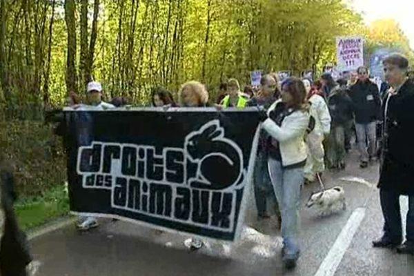 Depuis des années, les amis des animaux demandent la fermeture du Centre d'Élevage du Domaine des Souches (CEDS) dans l'Yonne.