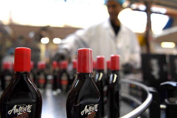 Les bouteilles d'Antésite produites à Voiron (septembre 2018)