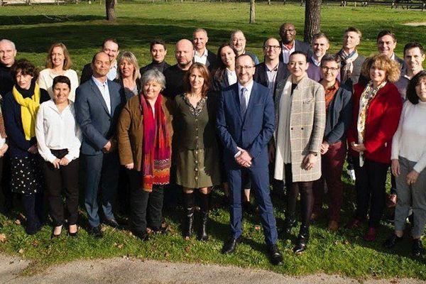 Municipales 2020 à Tournefeuille - Le candidat Laurent Soulié (LREM) et son équipe