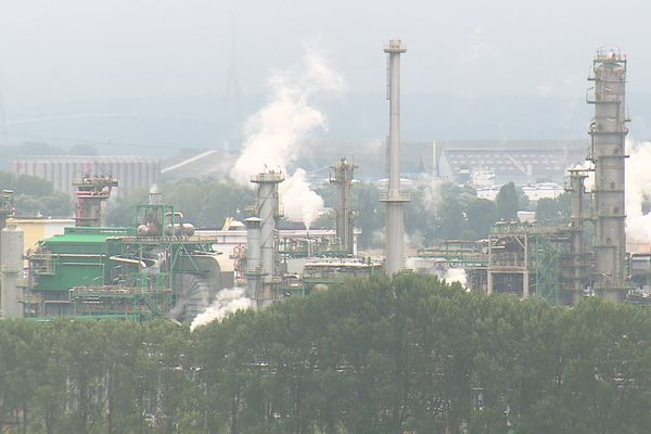 La raffinerie TotalEnergies de Gonfreville-l'Orcher (76)